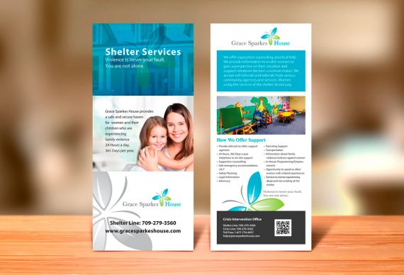Newfoundland rack card graphic design services