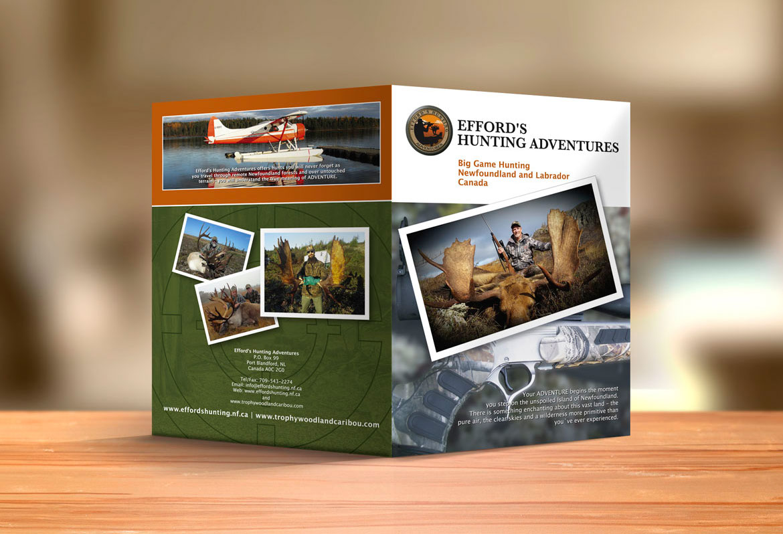 Newfoundland outfitter brochure design