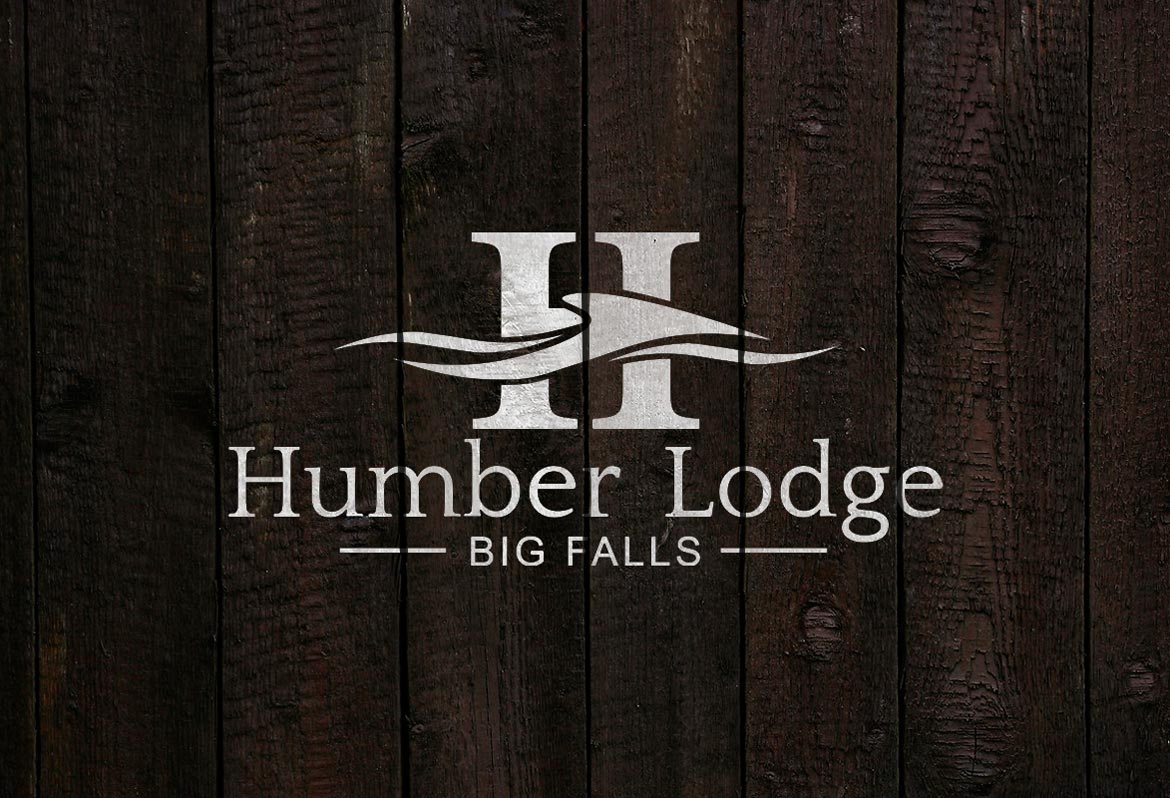 fishing lodge logo design NL