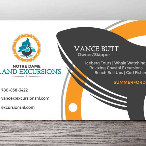 Newfoundland graphic design NL business card design portfolio